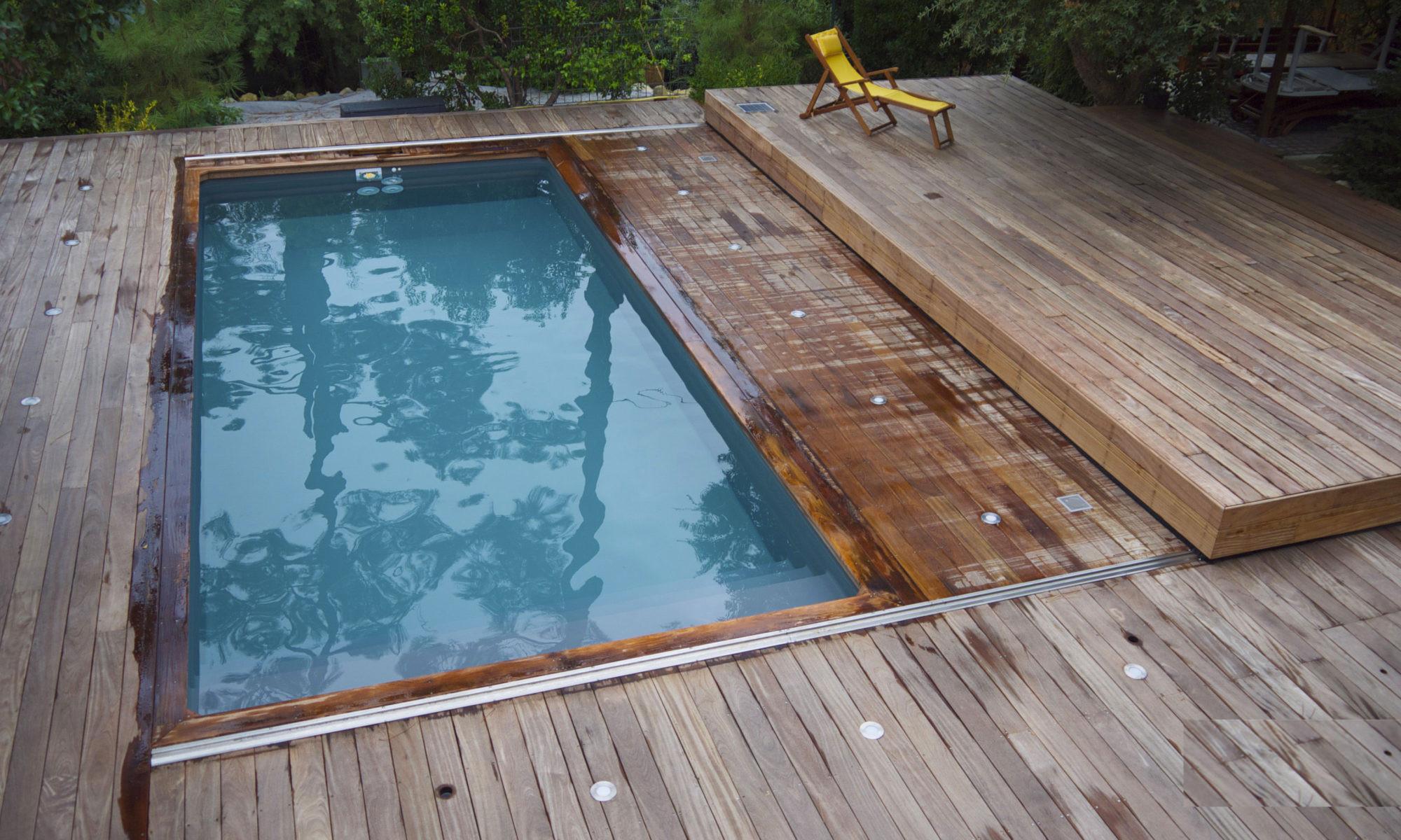 Piscine Bois Avec Terrasse couverture piscine avec terrasse | fabricant volet roulant
